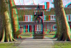 Arend Maartenshof Dordrecht 3D (wim hoppenbrouwers) Tags: arendmaartenshofdordrecht3d arendmaartenshof dordrecht stereo stereopicture anaglyph anaglyf redcyan 3d platanus tree platanen trees