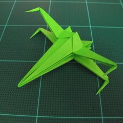 วิธีพับกระดาษเป็นจรวด X-WING สตาร์วอร์ (Origami X-WING) 039