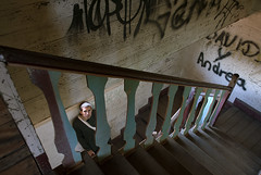 Sanatorium (D.OliveroS) Tags: portrait man color men lines stairs portraits nikon costarica retrato nikkor sanatorium escaleras cartago