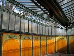 Interior of Porte Dauphine metro entrance by Hector Guimard (Sokleine) Tags: paris france metro metallic entrance artnouveau guimard jugendstil hectorguimard portedauphine 75016 belleépoque bouchedemétro