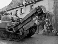 M4A3 Sherman with mine clearing device, 739th Tank Battalion