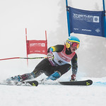 Madison HOFFMAN of Australia takes 3rd Place in the U14 Girls GS Race held on Whistler Mountain on April 5th, 2014. Photo by James Cattanach - coastphoto.com