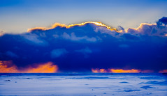 Weather Bomb (Graeme Tozer) Tags: iceland sky snow sunset squall cloud