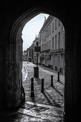 Looking down West Street Chichester (Barry.Turner.Photography) Tags: chichester barry turner sonya65 cathedral black white uk england