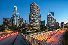 A Thousand Paths (Michael Muraz) Tags: 2017 ca california downtown losangeles northamerica usa world architecture cartrail city cityscape freeway highway lighttrail night nightphotography nightscape town