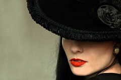 Hello yourself (coollessons2004) Tags: women portrait lips hat mysterious mystery beauty beautiful krystalsmith