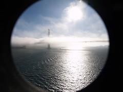 The Golden Gate Bridge (saxonfenken) Tags: sanfrancisco california bridge cloud mist framed goldengate superhero 7031 friendlychallenges thechallengefactory pregamesweepwinner gamesweepwinner 7031bridge