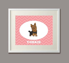 DogYorkieFramed (Ferntree Studio) Tags: portrait dog baby art yorkie kids illustration puppy fun drawing contemporary yorkshire nursery terrier cameo etsy decor chevron personalize ferntreestudio angelatraunig