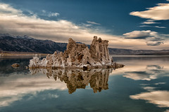 (Cat Connor) Tags: california blue sky lake mountains reflection nature water clouds landscape scenic sierra eastern tufa