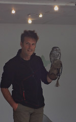 Nick Baker And A Tazmanian Tawny Frogmouth (PontyCyclops) Tags: summer wildlife nick cardiff bbc tawny frogmouth tazmanian naker of