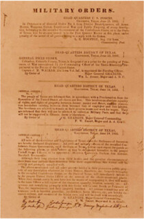 Juneteenth - General Orders Number 3