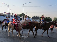 IMG_1956 gals on horses (jgagnon63@yahoo.com) Tags: horses parade patriotism independenceday cowgirls esky deltacounty escanabasesquicentennial escanabaparade esky150parade esky150 downtownescanaba