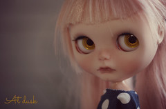 (buganville) Tags: camera playing by doll factory dusk editing blythe custom buganville rbl kippling pinkhaired