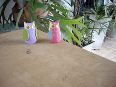 Corujinhas (artenapraia) Tags: papel reciclagem mache corujas