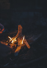 Fire Starter (35multimedia LLC) Tags: wood night 35mm canon fire hands cabin pit rokinon 5dmarkii