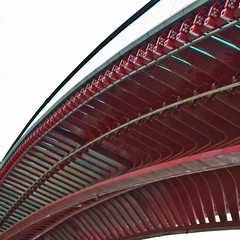 Detail of Venetian Calatrava bridge: Ponte della Constituzione - Explore 14-08-2013