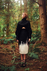 The diary of midnight & daybreak IV (Ella Ruth) Tags: trees portrait woman nature girl fashion forest woodland 50mm woods photographer shropshire 14 naturallight skirt shrewsbury jacket femalemodel brunette fashiondesign lookbook nikond90 macollection ellaruth chelseaedge sashaliu
