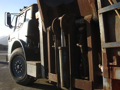 1985 Ford / custom Amrep (Scott (tm242)) Tags: trash dumpster truck garbage side debris rear disposal front bin collection rubbish trucks fl waste refuse recycle loader removal recycling load hopper collect packer rl haul asl msl