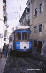 Lisbon 616 Calcada de Santo Andre (TonyW1960) Tags: lisbon tram lisbonroute12 strassenbahn electrico bonde streetcar tranvía трамвай spårvagn trikk トラム 电车 חשמלית ترام tranvia