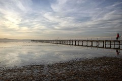 At the beginning (pominoz) Tags: sunset reflection clouds pier jetty nsw centralcoast longjetty