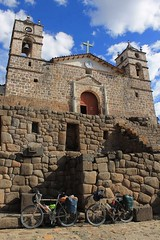 Inca walls and Catholic church in Vilcashuaman