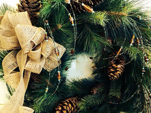 Burlap Holiday Wreath - Shirley's Flowers & Gifts, Inc., in Rogers, Ark.