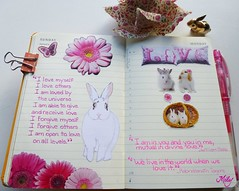 Fundamentals Truths from Pupito's Diary !!! : ) (Milagritos9) Tags: flowers rabbit love butterfly handmade quote sketchbook visualjournal symbolism whiterabbit petportrait pinkflowers tagore thewhiterabbit mily rabindranath lovebunnies artistjournal visualdiary cutebunny milagritos floresrosas cuterabbit illustratedjournal pupito moleskinejournals lovequotes moleskineproject petjournal williamblakequote artmoleskine moleskinedrawing artistnotebook rabbitdrawing rabbitportrait rabbitillustration lovepillow inspirationaljournal milycha diarioilustrado spiritualjournal agendailustrada rabbitjournal moleskinewatercolours moleskinewatercoloursnotebook cuadernoillustrado dibujosmoleskine ilustracionesmoleskine rabbitmoleskine milagritosflores retratoconejo conejitoadorable preciosoconejo