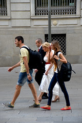 Someone Else's Wedding 22 (Smith-Bob) Tags: barcelona street wedding friends people espaa woman man men love happy groom bride spain women married candid bcn strangers marriage catalonia tourists dude together dudes marry witnesses bigday