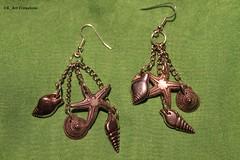 orecchini_catenina e perline metallo
