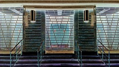 Town Hall (Ros Bell Photography) Tags: door brick london town hall steps entrance porch grille processed n8 hornsey crouchend northlondon vision:text=0956 vision:beach=0524 vision:outdoor=0753 vision:car=082