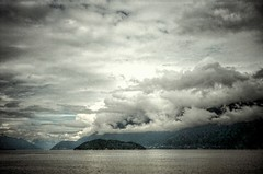 Entrance to Horseshoe Bay from Howe Sound, BC HDR (from single jpg) - Konica C35AF2 Compact with Fuji ISO 400 Film (Logos: The Art of Photography) Tags: 35mmfilm hdr hdrfromasingleexposure konicac35af2