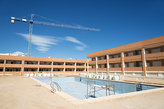 AFS-130483 (Alex Segre) Tags: new houses pool sunshine swimming site spain construction europe european apartments apartment crane being under property sunny bluesky nobody cranes spanish pools land unfinished housing blocks block development properties built sites in costablanca unbuilt a alexsegre granalacant