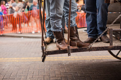 Blue Jeans and Boots (scottstephenball) Tags: girl sanantonio cow cowboy san long downtown texas boots country stock parade jeans western rodeo longhorn horn cowgirl antonio stockshow southtexas