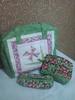 Conjunto Bolsa, Estojo e Necessaire. (Cleide Patch e Afins) Tags: quilt bolsa portalápis estojo fibra necessaire