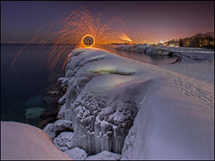 Fire And Ice (Rodrick Dale) Tags: city sky lake snow toronto ontario canada ice wool water fire steel beaches photodaleroddick