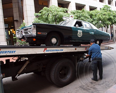 NYPD Tow Truck with 1972 Plymouth Fury Police Radio Patrol Car (jag9889) Tags: show old city nyc blue ny newyork classic cars field car mobile museum truck radio vintage automobile antique manhattan plymouth police nypd historic financialdistrict company vehicles transportation vehicle annual division 1972 tow department lawenforcement patrol fury services finest towing 2012 fsd rmp firstresponders policemuseum oldslip newyorkcitypolicedepartment precinct5 p005 newyorkcitypolicemuseum jag9889 y2012 692012