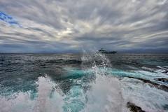 Coast Guard. (Robin Thom) Tags: deleteme8 deleteme2 deleteme3 deleteme7 boats waves deleteme10 havana cuba malecon
