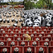 1,600 pandas flood streets of Taipei, Taiwan. Photography from the scene, featuring shots from Wilson Sun, 徽, and 霞客 丁.