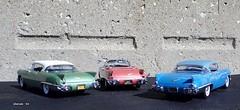 1957 Cadillac Eldorado: Biarritz-Sevilles (JCarnutz) Tags: seville cadillac eldorado 1957 biarritz diecast brougham franklinmint 124scale danburymint