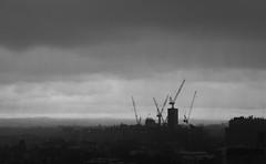 rods and shafts (scottrackers) Tags: storm rain clouds buildings australia melbourne cranes shafts