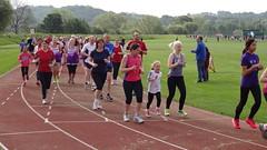 Durham parkrun #141. 31-May-2014. #0046 [After 400 metres #0025] (TheBigRedHeart) Tags: wedding castle sports durham centre may cheerleader 31 graham maiden 141 2014 parkrun 31052014
