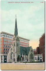 Christ Church, Indianapolis, Indiana (Hoosier Recollections) Tags: usa color history buildings indianapolis churches indiana streetscene lampposts marioncounty hoosierrecollections