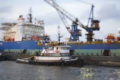 (canvasbackdrake) Tags: pier boat miniature shift tug tilt f28 pensacola crosby discover palafox 45tse 5dmk3