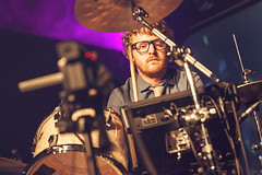 Public Service Broadcasting @ The Institute 8 (preynolds) Tags: rock drums glasses concert birmingham geek laptop gig livemusic mama noflash institute negativespace indie drummer drumming geeky tweed thelibrary digbeth mark2 wrigglesworth tamron2470mm canon5dmarkii counteractmagazine