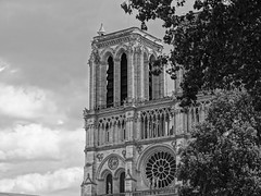 I sea you Notre dame ... (pougnyg) Tags: blackandwhite paris love christ cathedral jesus notredame notre dame pape cathedrale prier parislife