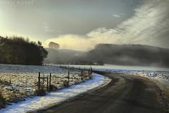 Danish winter landscape (Neal J.Wilson) Tags: snow mist misty road winter landscapes denmark danish nordic scandinavia countryside countryroad lane fog jutland jylland cold