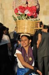 Smiling Dancer Oaxaca Mexico (Ilhuicamina) Tags: dancer mexican oaxacan woman mujer flowers chinaoaxaquena boda weddings fiestas