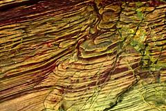 Enhanced Silurian rocks (CobaltWildlife) Tags: 2013 connemara glassilaun ireland places salrockseries silurian art macro mudstone pattern photography rock spring