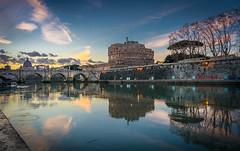 Sant'Angelo sunset (aurlien.leroch) Tags: vatican santangelo italy rome italia roma italie nikon sunset cityscape travel
