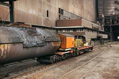 Steel Plant Tipping (Kingmoor Klickr) Tags: britishsteel scunthorpe steelworks hunslet 7281 industrialrailway industry